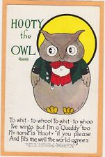 Advertising Postcsrd - Quaddy Plaything Hooty The Owl Thornton Burgess Harrison