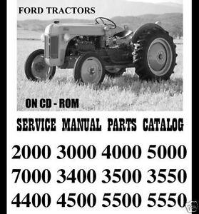 FORD 2000 3000 4000 5000 7000 TRACTORS SHOP SERVICE REPAIR MANUAL PARTS CATALOG