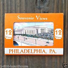 10 Vintage Original Philadelphia Pennsylvania Souvenir Post Card Booklets Nos