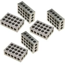 "3 Pair (6) 1-2-3 Block Set 0.0001"" Precision Matched Mill Machinist 123 23 Holes"