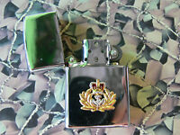 Army Military Regimental Lighter With Royal Navy Officer On Front RN