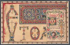ROMA GROTTAFERRATA 03a BADIA GRECA RELIGIONE Cartolina viaggiata 1914
