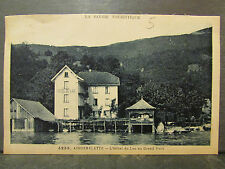 cpa 73 aiguebelette l' hotel du lac au grand port