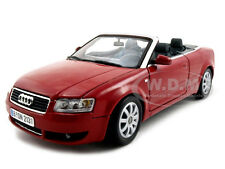 2004 AUDI A4 CONVERTIBLE RED 1:18 DIECAST MODEL CAR BY MOTORMAX 73148