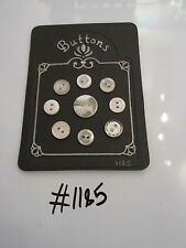 #1185 Lot of 9 White and Clear Buttons