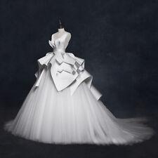 Elegant Sleeveless Backless V Neck Ruffles Ruched Bridal Gowns Wedding Dresses