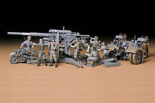 Tamiya Model Kit 1/35 German 88mm Gun Flak 36/37 W/trailer and Crew Figures