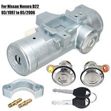 Set Of 3 Ignition Starter Barrel Door Lock & 2 Keys For Nissan Navara D22 97-06