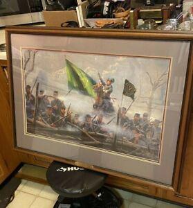 Rebel Sons Of Erin M Kunstler Civil War Art #0291 Signed Numbered & Framed Print