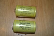 Jensen capacitors 6 x 10 uF or 2 x 28 uF - 200 Vdc, metalized paper in oil