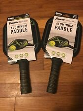 2 - Franklin Aluminum Pickleball Paddles Ball Padded Handle Bundle of 2