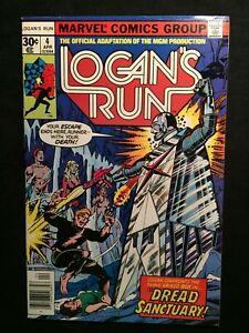 "Marvel LOGAN'S RUN Vol.1 #4 Apr.1977 ""Enter the Eternal ICE-WORLD OF BOX!"" 8.0VF"