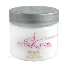 NSI Attraction Nail Powder - Crystal Clear - 1.4oz / 40g Made in USA.