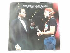 """Willie Nelson & Julio Iglesias """"As Time Goes By/You'll Never Know""""  PS 45"""