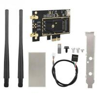 M.2 NGFF to PCI-E Converter WiFi Wireless BT Network 8265 For 9260 1550AC T1Y5