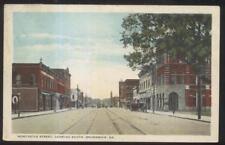 Postcard BRUNSWICK Georgia/GA  New Castle St Shopping Area Stores 1910's