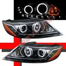 CCFL Halo Angel Eyes R8 LED Black Projector Headlights For 11-13 Kia Sorento