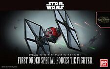 Star Wars Plastic Model Kit 1/72 FIRST ORDER SPECIAL FORCES TIE FIGHTER BANDAI *