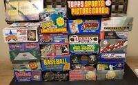 CHOICE 1983-2007 Baseball Wax Box SET CMC DONRUSS FLEER LEAF SCORE STUDIO TOPPS