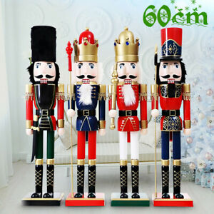 60CM Large Painted Christmas Holiday Nutcracker Soldier Wooden Xmas Gifts
