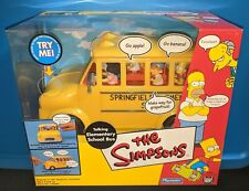 The SIMPSONS WOS TALKING ELEMENTARY SCHOOL BUS Playmates 2002 MIB