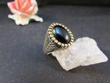 Silberring Männerring Siegelring Ring Sterlingsilber 925 Handarbeit Onyx Gr 67