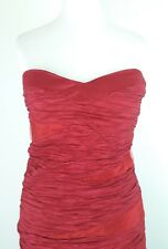 "Women's Dress Red Size Medium Apricot pit to pit 14"" ☆"