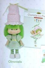 Poupée Charlotte aux Fraises Citronnelle 14 cm Neuf en boite réédition doll