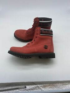TIMBERLAND WOMEN'S PREMIUM 6 INCH WATERPROOF NUBUCK LEATHER BOOTS size 7 Y278
