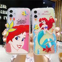 Phone Case Disney Mermaid Princess TPU For iPhone 11 Pro Max X XR Xs 7 8 SE 2020