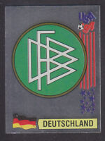 Panini - USA 94 World Cup - # 166 Deutschland Foil Badge (Green Back)