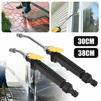 Adjustable 2in1 High Pressure Power Car Water Wand Jet Nozzle 30/38CM Spray Gun