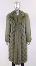 NEW CHRISTIAN DIOR COUTURE GREEN FOX FUR LONG COAT WINTER COLLECTION - S M