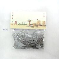 1//6 BJD Doll DIY Crafts Materials Mini Metal Buckle Silver 10pcs NDA021SLR