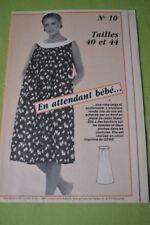 """"""" FEMMES D'AUJOURD'HUI """" PATRON N°10 // ROBE FUTURE MAMAN T 40/44"""