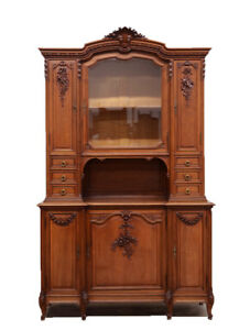 Antique French Walnut Louis XVI Style Buffet Cabinet
