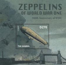 Gambia- Zeppelin of World War l Stamp - Souvenir Sheet MNH