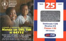 3985 SCHEDA TELEFONICA RICARICA TIM PROGRAMMA ALIMENTARE WFP25-M APR.2006