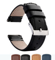 18mm 20mm 22mm Genuine Leather Watch Band Replacement Soft Strap Wrist band