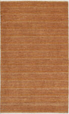 3X5 Hand-Knotted Gabbeh Carpet Traditional Brown Fine Wool Area Rug D35473