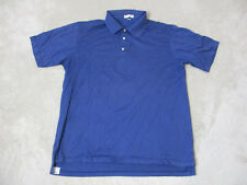 Peter Millar Cotton Polo Shirt Adult Extra Large Blue Cotton Tennis Rugby Mens