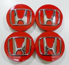 4pcs. Honda Civic Accord CRV Pilot 2002-2015 wheel center caps RED hub caps