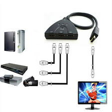 1080P HDMI 3 in1 Switcher Spitter Adapter for DVD Laptop Xbox to HDTV Projector