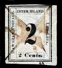 Hawaii #16 Used W/ Hps Cert Numeral Issue Of 1859 - Vf - $850.00 (Esp#6766)