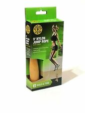 Golds Gym Jump Rope 9' Rope With Natural Wood Handles