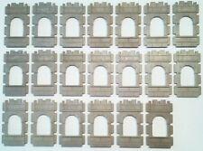 Playmobil 20x Mauer gerade mit Fenster aus Ritterburg 3666
