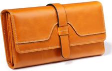 Ladies Purse Women RFID Blocking Long Wallet Large Capacity Genuine Leather with