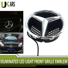 Mercedes Benz Front Grille Star Emblem 2006-2013 Illuminated LED White Light
