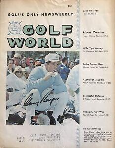 GARY PLAYER Signed 1966 GOLF WORLD Mag. Cover…GOLF HOFer