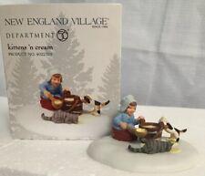 "Dept 56 New England Village ""Kittens 'N Cream"" #4022329 ~ Girl with Cats, Milk"